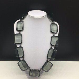 Chico's Gunmetal Gray Chunky Rhinestone Necklace